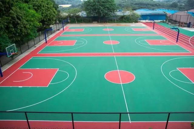 广州蓝天学校丙烯酸篮球场